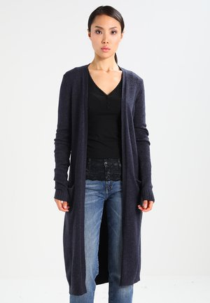 VIRIL LONG CARDIGAN - Cardigan - total eclipse/melange