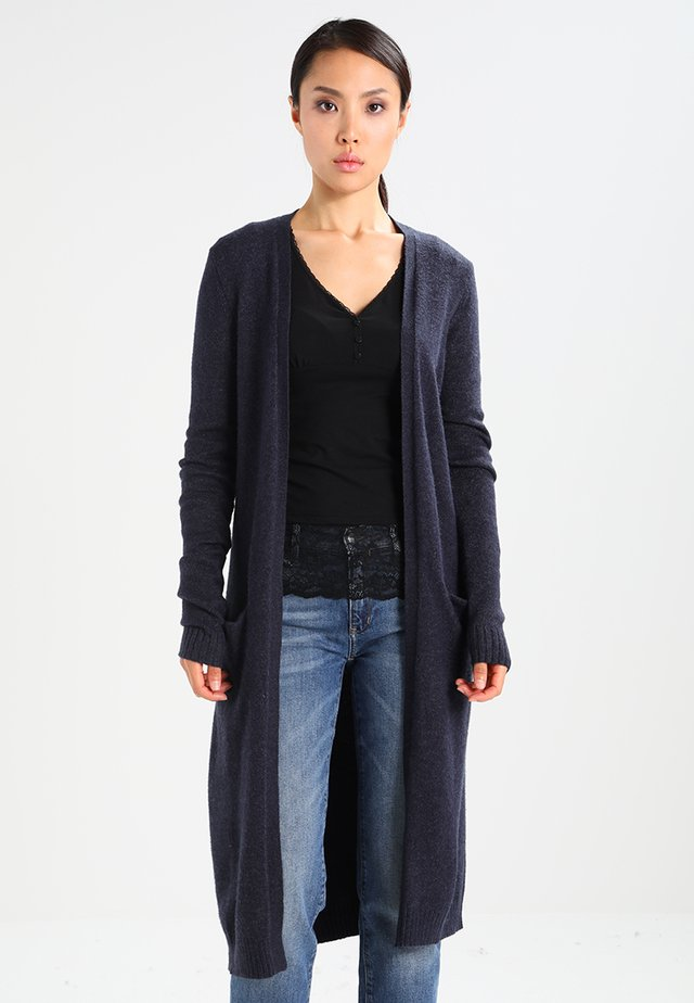 VIRIL LONG CARDIGAN - Strikjakke /Cardigans - total eclipse/melange