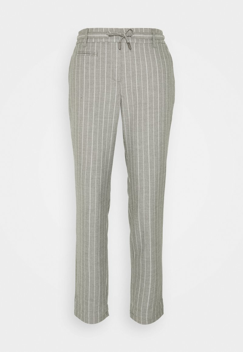 comma casual identity - LANG - Trousers - grey melange