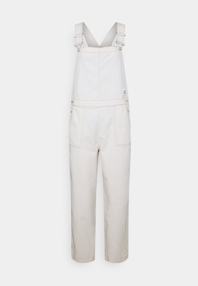 DUNGAREE WIDE LEG CROPPED LENGTH - Haalari - multi/off-white