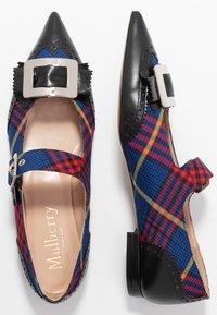 Mulberry - Ankle strap ballet pumps - nero/blue - 1