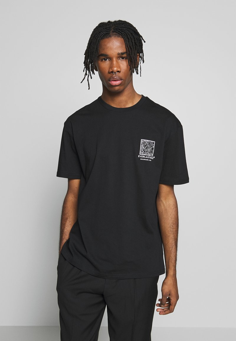 Topman - EVER MONO TEE - T-shirt print - black