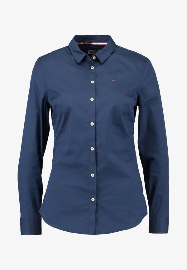 Tommy Jeans ORIGINAL - Koszula - dress blues/czarny SLCD