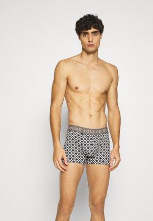 GEO DESIGN TRUNKS 3 PACK - Pants - black