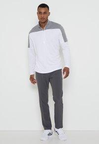 adidas Golf - ZIP LIGHTWEIGHT - T-shirt à manches longues - white - 1