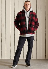 Superdry - WORKWEAR - Fleece jacket - black/red - 0