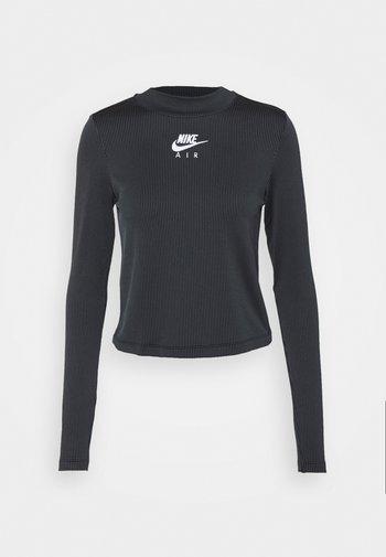 AIR MOCK - T-shirt à manches longues - black/iron grey/white