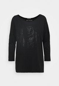 True Religion - CREW BUDDHA HORSESHOE RHINESTONES - Long sleeved top - black - 0