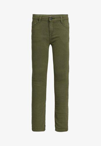 Skinny džíny - army green