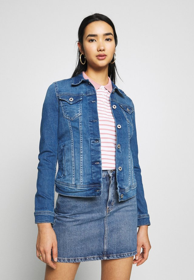 THRIFT - Kurtka jeansowa - blue denim