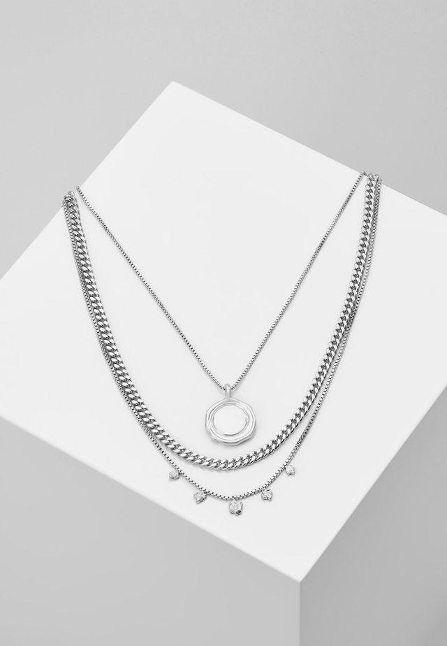 NECKLACE AIR SET - Kaulakoru - silver-coloured