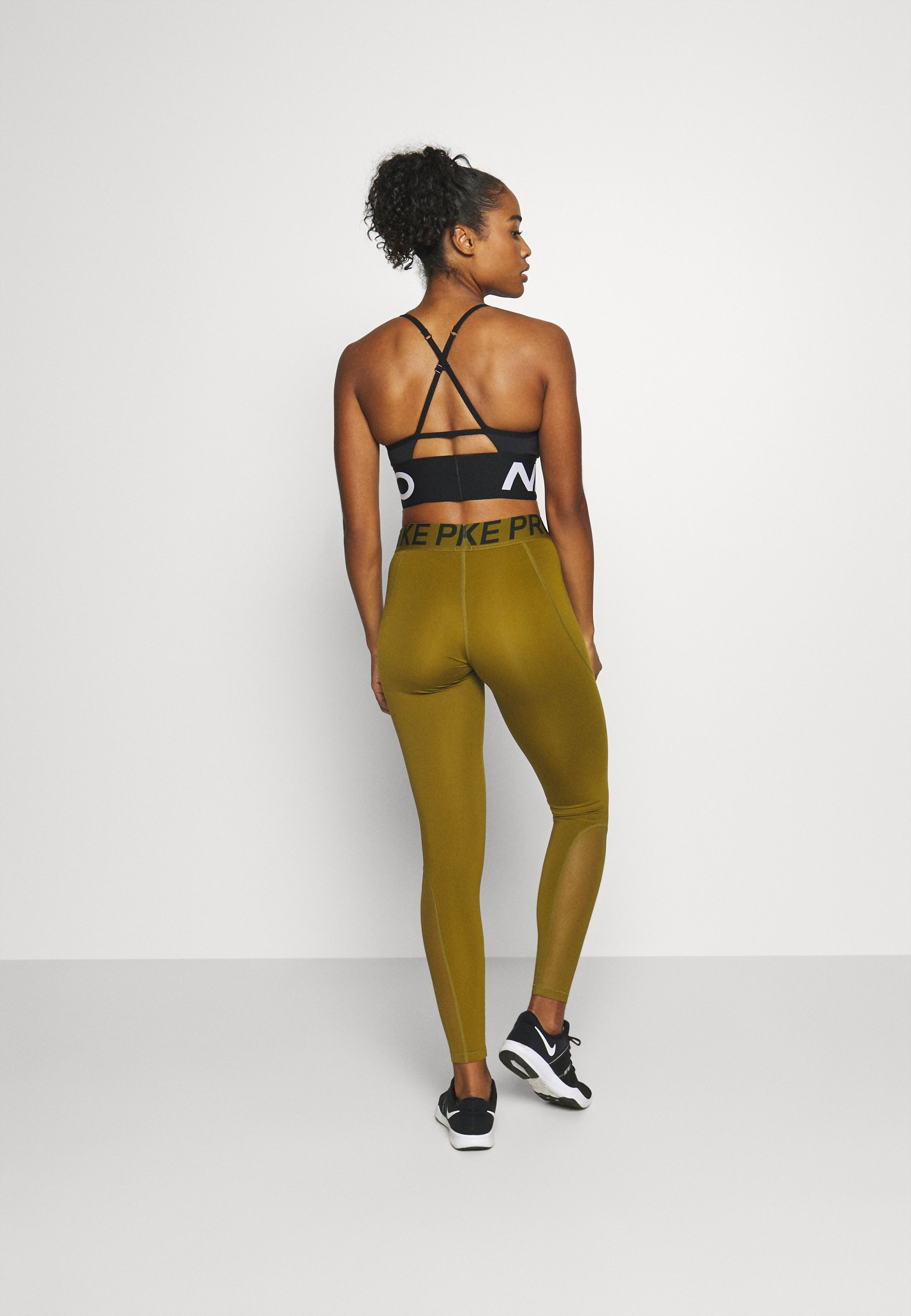Nike Performance Leggings - olive flak/olive flak/black 1TsYl