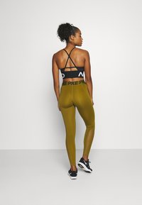 Nike Performance - Leggings - olive flak/olive flak/black - 2