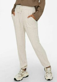 ONLY - LOOSE FIT - Tracksuit bottoms - pumice stone - 3