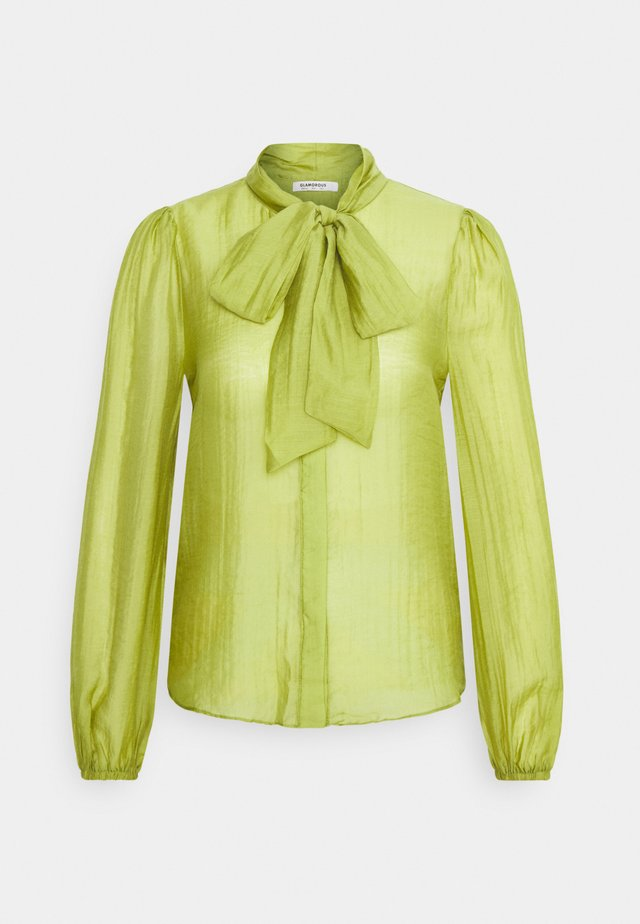 LONG SLEEVE BLOUSE WITH BOW DETAIL - Camicia - spinach green