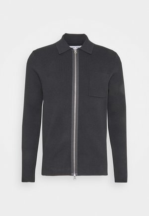 GUNA ZIP - Cardigan - black