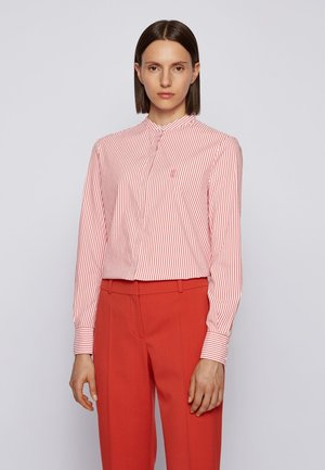 Button-down blouse - dark orange