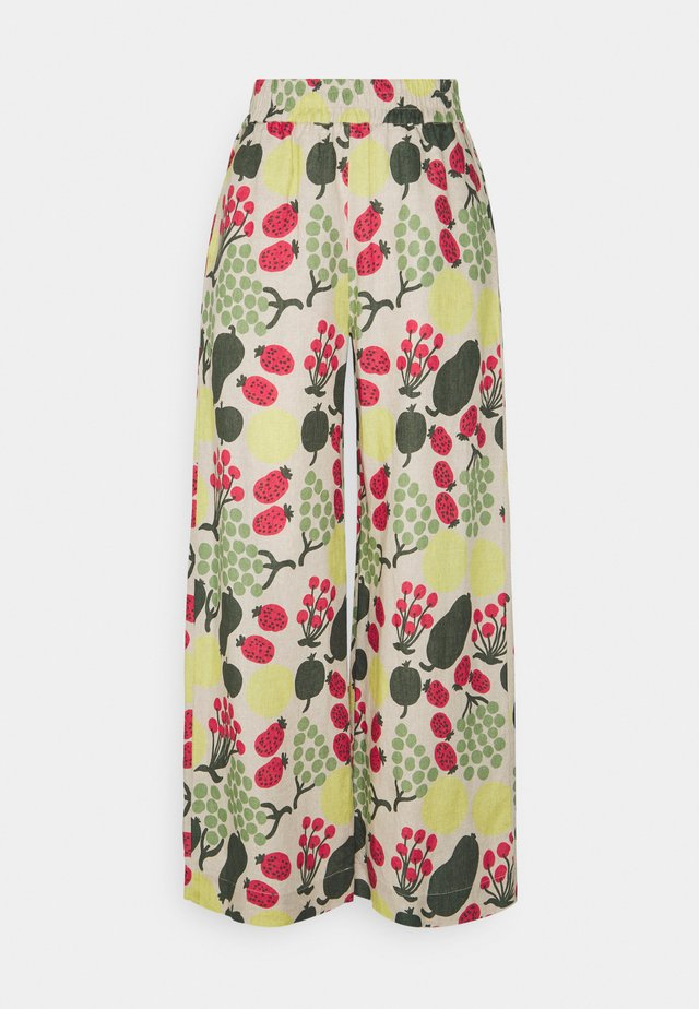 KUKKINUT PIENI TORI TROUSERS - Pantaloni - green/rose/yellow