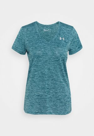 TECH TWIST - Basic T-shirt - dark cyan