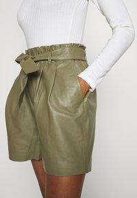 Object - OBJSTAR - Pantalón de cuero - burnt olive - 4