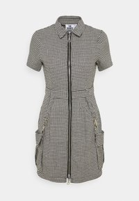 The Ragged Priest - HOUNDSTOOTH SHIRT DRESS STRAPPED POCKETS - Day dress - black/white - 0