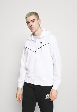 REPEAT HOODIE - Huvtröja med dragkedja - white/black