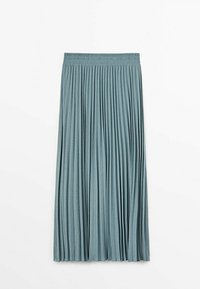 Massimo Dutti - MIT STRETCHBUND  - A-line skirt - light blue - 1