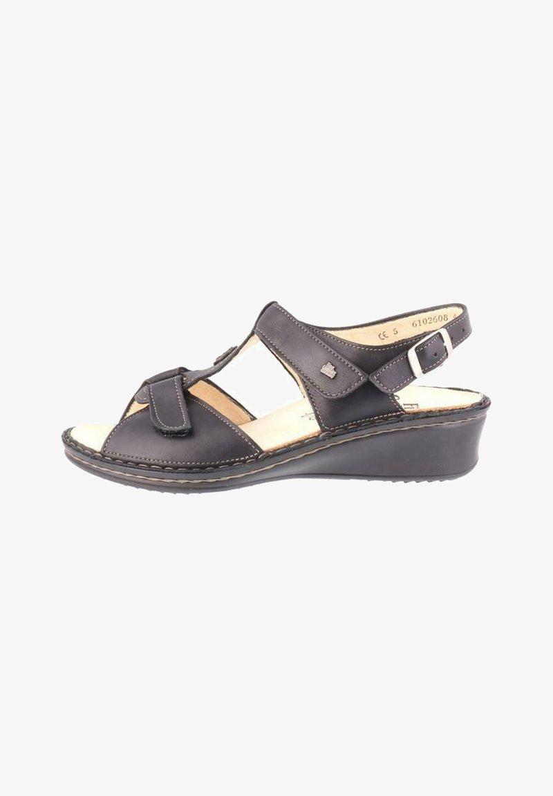 Finn Comfort - Wedge sandals - nappaseda schwarz