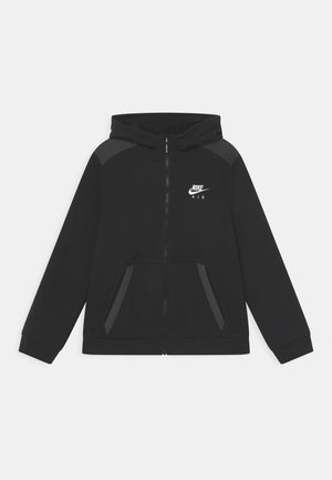Zip-up hoodie - black/dark smoke grey/white
