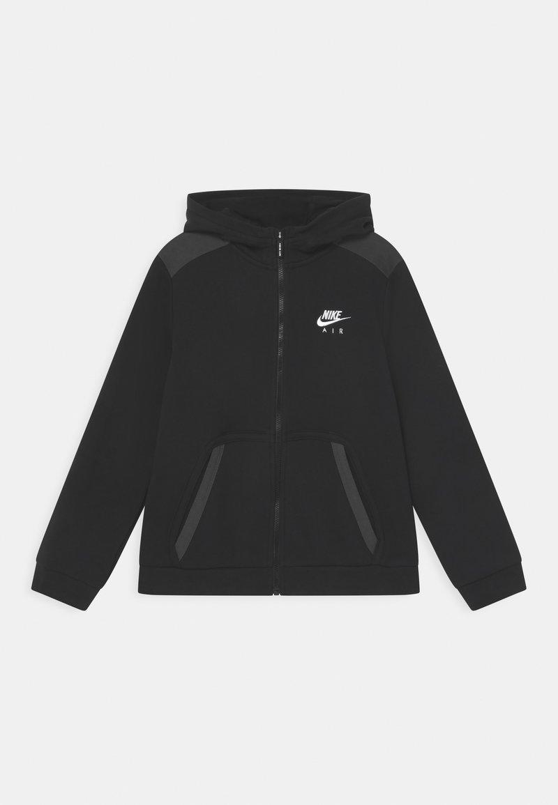 Nike Sportswear - Bluza rozpinana - black/dark smoke grey/white