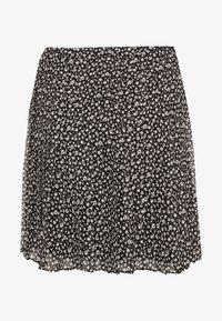 Hollister Co. - PLEATED SKIRT - A-line skirt - black - 0