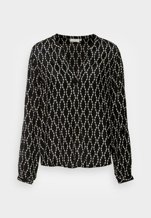 OLAN BLOUSE - Long sleeved top - black/sand