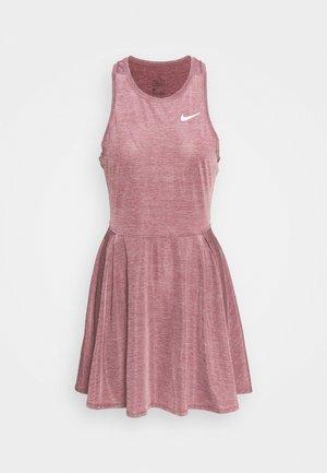 DRESS - Sportovní šaty - dark beetroot/white