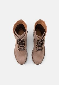 Anna Field - LEATHER - Kotníkové boty na platformě - taupe - 5