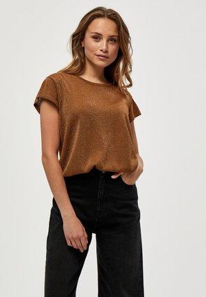 CARLINA  - T-shirt basic - walnut brown lurex