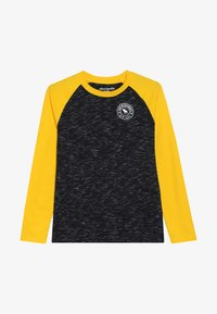 Abercrombie & Fitch - FOOTBALL TEE - Long sleeved top - black/yellow - 2