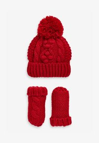 Next - CABLE  SET - Rukavice - red - 0