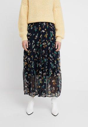 KAGUNILLA SKIRT - Maxi skirt - midnight marine