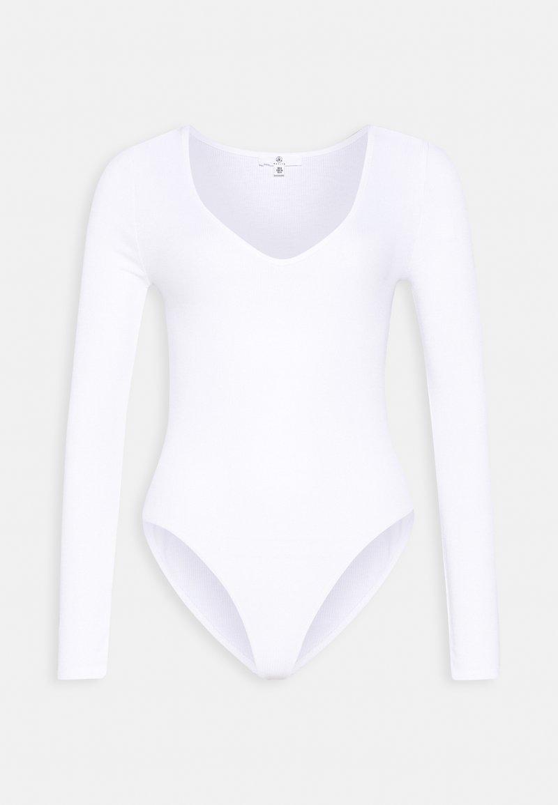 Missguided Petite - V NECK BODYSUIT - T-shirt à manches longues - white