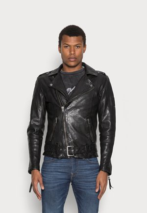 ETHAN - Leather jacket - black