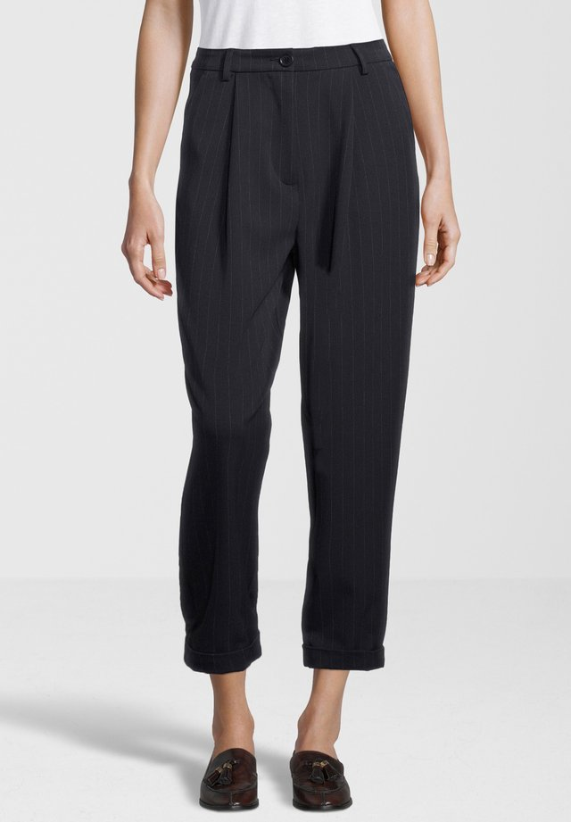 MALOU - Trousers - navy wide pin
