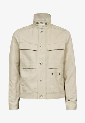 SHORT BIKER OVERSHIRT - Summer jacket - beige