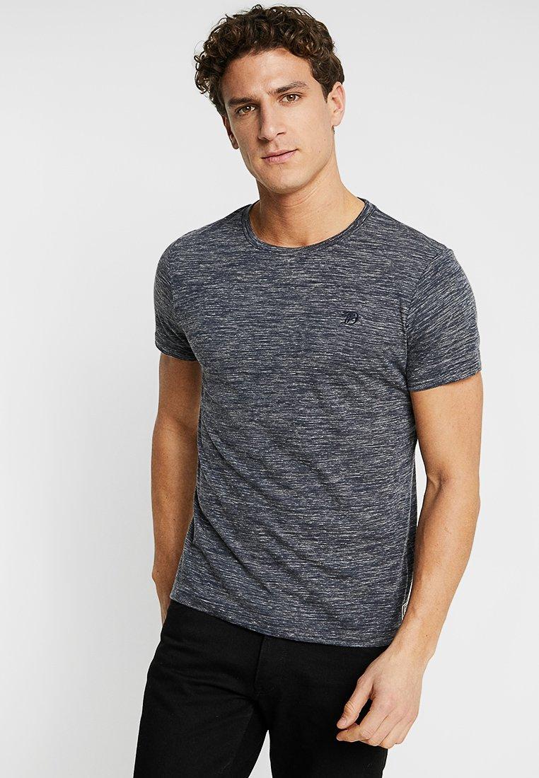 TOM TAILOR DENIM - Basic T-shirt - space dye blue