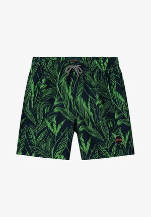 SCRATCHED LEAVES - Swimming shorts - new neon green