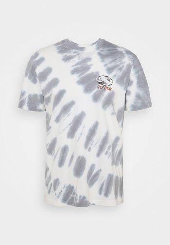 TIE DYE GLOBE LOGO ICON TEE UNISEX - Print T-shirt - white