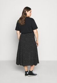 ONLY Carmakoma - CARLOLA LONG  - A-line skirt - black/white - 2