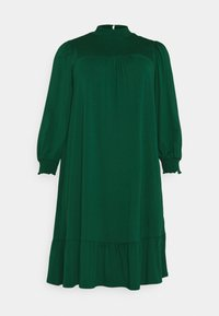 SHIRRED YOKE DRESS - Jersey dress - green