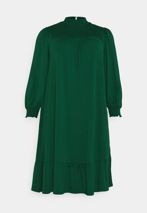 SHIRRED YOKE DRESS - Žerzejové šaty - green