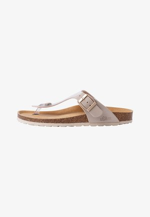 T-bar sandals - taupe patent