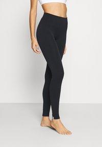 Calvin Klein Underwear - WOMEN LOGO MASON - Leggings - Stockings - black / white - 0